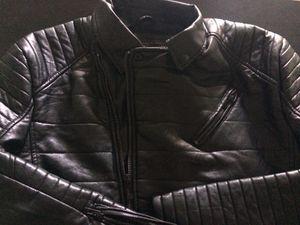 Bleecker & Mercer leather biker jacket (Blk) size Lrg for Sale in Tampa, FL