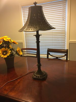 Lamp, all metal , including metal shade for Sale in Dallas, TX