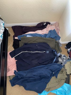 MENS CLOTHES SMALL & LARGE for Sale in Corona, CA