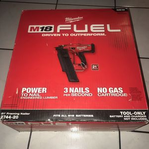 Milwaukee M18 Fuel Framing Nailer . Bare Tool .solo Herramienta !!$320 Price Firm for Sale in Anaheim, CA