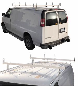 New in box adjustable 2 bars rain gutter mount ladder rack with ladder stopper for Sale in Baldwin Park, CA