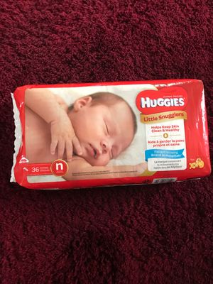 12 packs Newborn Huggins 36 ct diapers for Sale in Columbus, OH