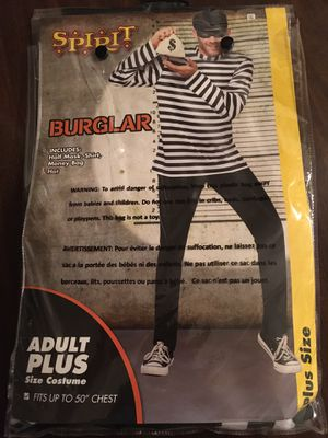 Burglar Halloween costume for adults for Sale in Herndon, VA