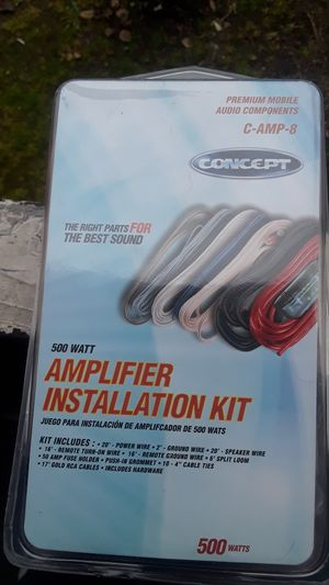 Car amp cable kit $20 for Sale in Pomona, CA
