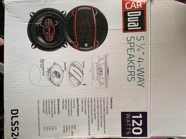 Dual car speakers