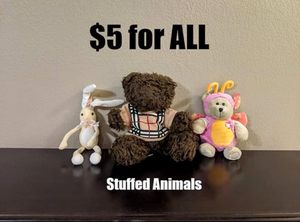 Stuffed Animals - Bear, Starbucks Butterfly Bear, Rabbit for Sale in Lewisville, TX