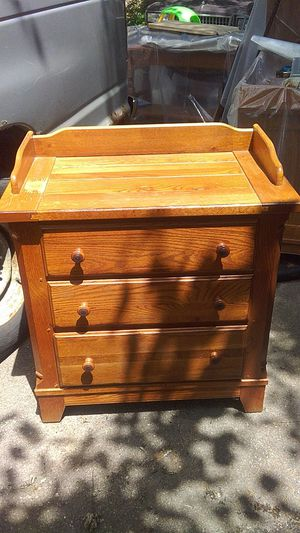 Smaller 3 drawer kids or baby changing table dresser for Sale in Wheaton, IL