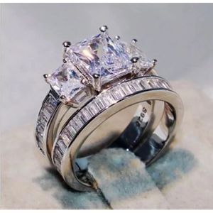 Wedding engagement stimulated diamond ring band set for Sale in Silver Spring, MD