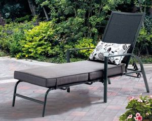 New!! Set of 2 Lounge, Gray with Leaf Design, patio furniture, outdoor lounge chair for Sale in Phoenix, AZ