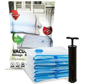 6 Vacuum Storage Bags-Space Saving Air Tight Compression-Shrink Closet Clutter Store, Organize Clothes, Linens, Seasonal Items by Hastings Home for Sale in Ontario, CA