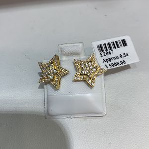 10k Gold Diamond Star Earring MANY MORE OPTIONS AVAILABLE IN STORE for Sale in Los Angeles, CA