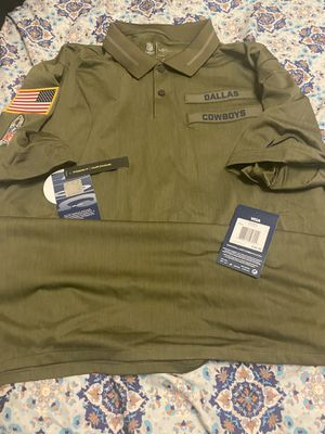 Brand new with tags nike Cowboys salute to service polo shirt size men's large for Sale in San Antonio, TX
