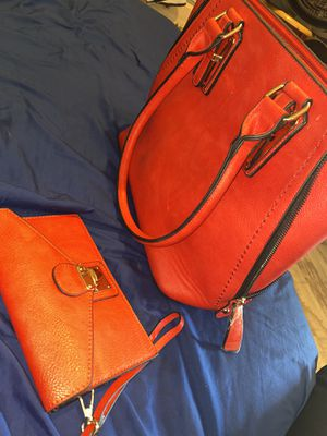 Purse with a Wallet .. (red outside & Zebra Inside) for Sale in Odessa, TX