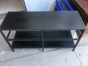 Black and glass small entertainment shelf for Sale in Sacramento, CA