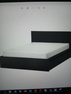 Queen size high bed frame bed with 4 storage boxes for sale for Sale in Brooklyn, NY