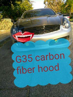 G35 Infiniti coupe carbon fiber hood for Sale in San Bernardino, CA