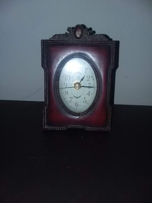 Nice leather like clock. for Sale in Terre Haute, IN