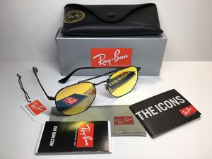 Ray Ban Marshal 4/13 Black with Yellow Mirror Lens Sunglasses RB3648 Arm Length 145mm Lens 54mm / Bridge 21mm for Sale in Monterey Park, CA