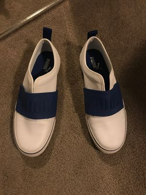 Puma casual sneakers- white 8.5 for Sale in Mountain View, CA