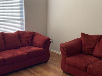 Queen Sofa Sleeper (bed never used) & Loveseat for Sale in Keller,  TX
