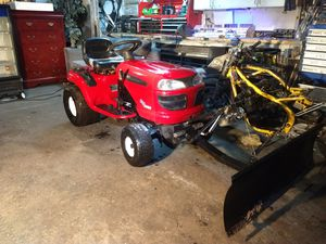 craftsman honda tractor with plow for Sale in Airmont, NY