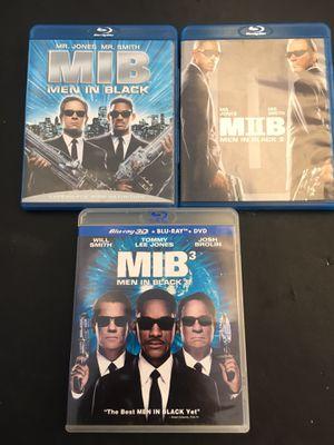 Men In Black 1,2,3 Blu-Ray dvds - 3D for Sale in El Monte, CA