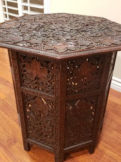 Vintage Unique Solid Wood Side Table for Sale in Los Angeles,  CA