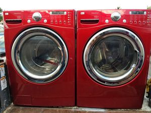 LG RED WASHER AND ELECTRIC DRYER SUPERCAPACITY for Sale in Hialeah, FL