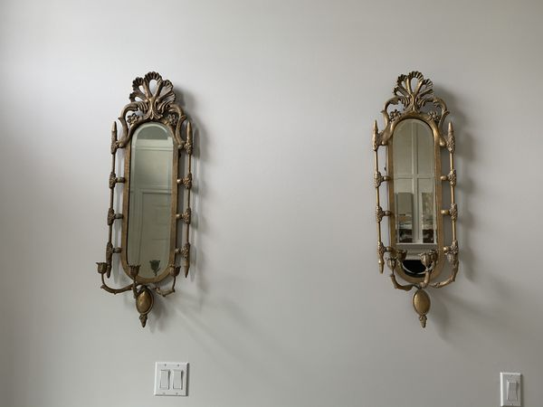 Mirrored candle holder Wall sconces from horchow