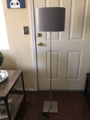 IKEA ALÄNG Floor lamp with LED bulb, nickel plated. 🪔 for Sale in Rialto, CA