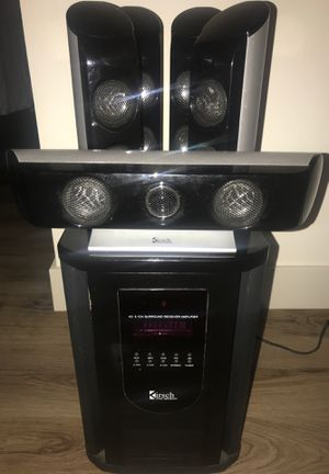 K3 5.1CH Kirsch Surround Reciever Amplifier w/Loud speakers for Sale in Renton, WA