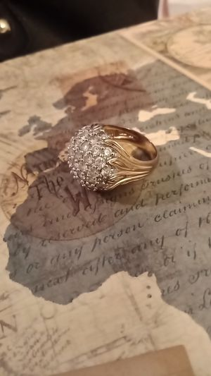 18k plated Cocktail ring with CZ for Sale in Sumner, WA