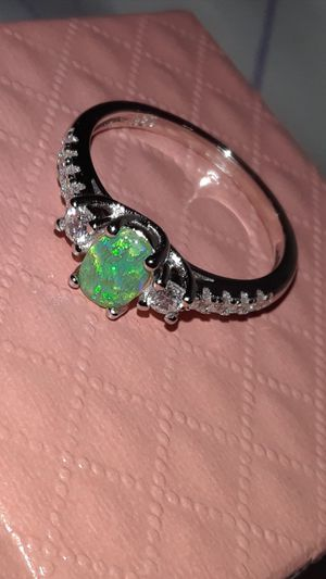 Green Fire Opal Ring Size 7 Solid Silver for Sale in Vancouver, WA