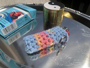 handmade crochet lighter cozy w/keyring for Sale in Los Angeles, CA