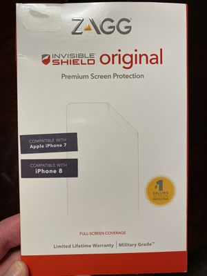 Zagg screen protector iPhone 7 and iPhone 8 for Sale in Scottsdale, AZ