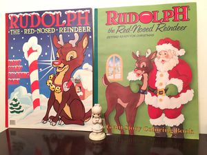 2 Rudolph Giant Story Coloring Books for Sale in Baltimore, MD