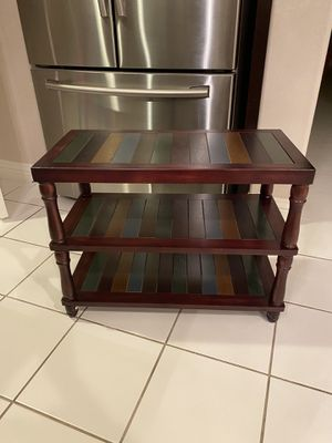 Shoe Bench, 3-Tier Shoe Rack with Solid Wood Legs, Colorful Shelves, Holds up to 264 lb, for Hallway, Entryway, Country Brown for Sale in Corona, CA