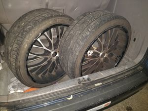 22 Inch Black and Crome Rims for sale.. for Sale in Alexandria, VA