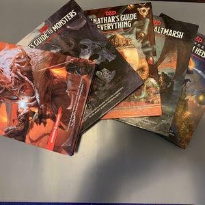 Various Dungeons & Dragons Books, 5th Edition for Sale in Oakwood, GA