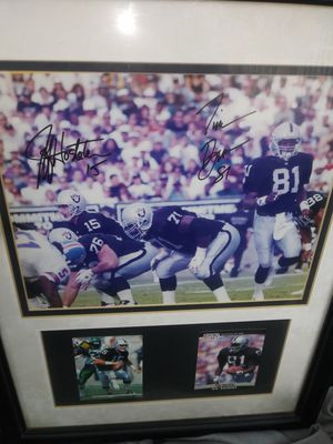 2-Raiders autograph picture...tim brown & jeff ...not certified..but authentic... $30 for Sale in Norwalk, CA