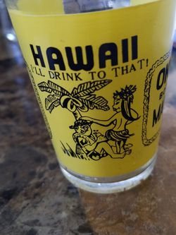 """Vintage Hawaii """"I'll Drink To That"""" Okole Bottoms Maluma Up Glass Jigger for Sale in Neenah,  WI"""