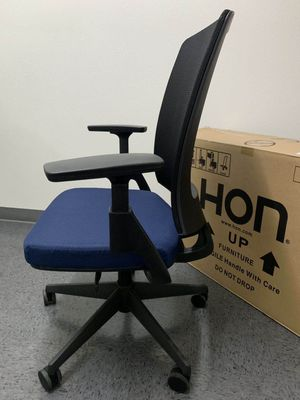 New in box HON Lota model H2281 full adjustment recline mesh back office chair in Navy Cushion Seat armrest forward up and down MSRP $753 for Sale in Covina, CA