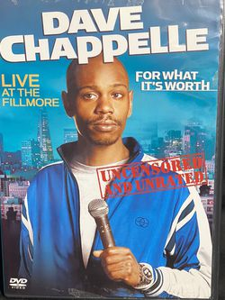 Dave Chappelle For What It's Worth DVD | Great Working Condition for Sale in Alexandria,  VA