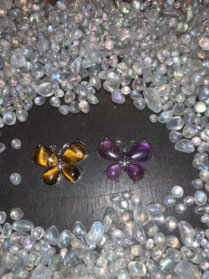 Butterflies of tigers eye and amethyst for Sale in Oxford, MI