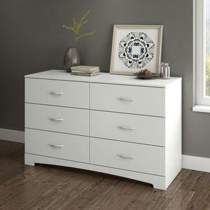 South Shore SoHo 6-Drawer Double Dresser, White [Open Box] [Item 2053] for Sale in Irving, TX