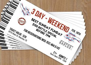 10 free admission tickets for Sunday at Capitol Bars Presidents day event. for Sale in Houston, TX