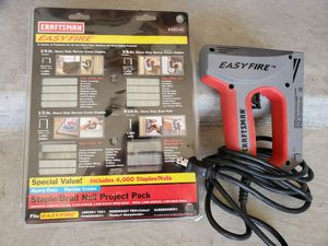 FLASH SALE!!! Craftsman Easy Fire staple gun with 4000 stales/nails for Sale in El Paso, TX