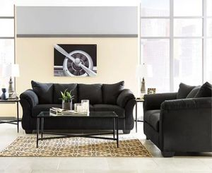 Ashley Darcy black sofa and loveseat for Sale in Houston, TX