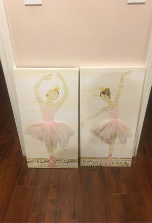 2 Ballerina wall canvas for Sale in Los Angeles, CA