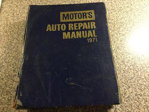 Motors Auto Repair Manual 1971 for Sale in Creve Coeur, MO